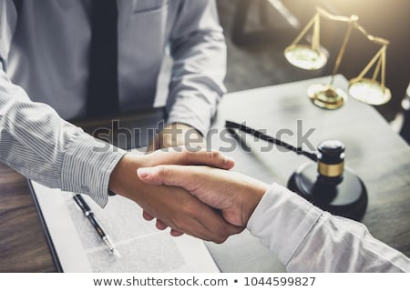 Handshake after good cooperation, Businessman handshake male law Stock photo © Freedomz