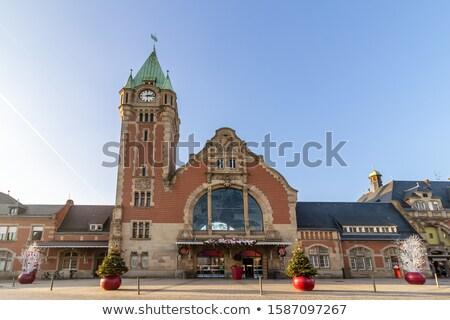 железнодорожная станция Франция воды здании город часы Сток-фото © borisb17
