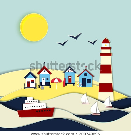 Faro playa arena Foto stock © ivonnewierink