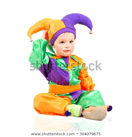 Isolated boy dressed as a clown Stock photo © Imaagio