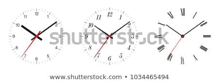 аналоговый часы классический указывая четыре пятнадцать Сток-фото © szefei