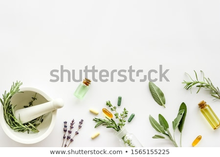 Naturalismo cura ervas medicina mesa de madeira Foto stock © JanPietruszka