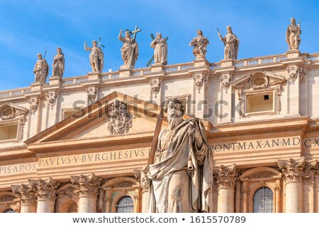 Apostle Paul in St. Peter's Square with blue sky background, Rome, Italy Stock photo © Zhukow