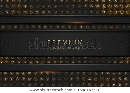 Vektor fekete arany absztrakt főcím luxus Stock fotó © Iaroslava