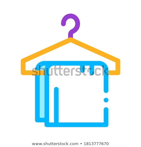 Dress Things On Hanger Vector Thin Line Sign Icon Stock photo © pikepicture