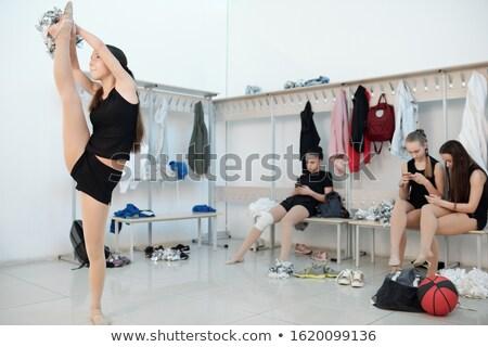 девочек раздевалка группа сидят Сток-фото © pressmaster