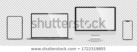Display monitor computer vector mockup. Stock Vector illustration isolated on white background. Stock photo © kyryloff