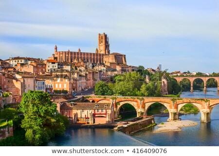 Brug Frankrijk augustus rivier regio Stockfoto © borisb17