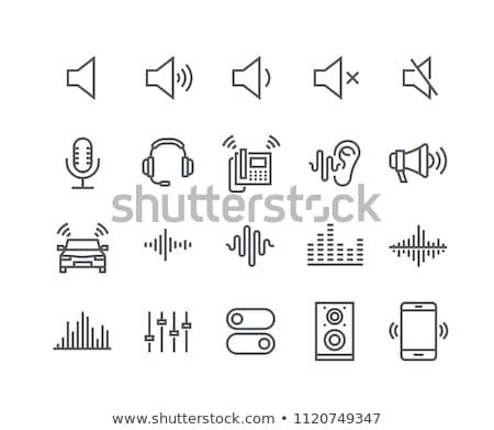 Mikrofon audio fale ikona ilustracja Zdjęcia stock © pikepicture