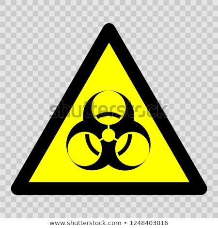 Biologiczny hazard wektora ikona cienki line Zdjęcia stock © smoki