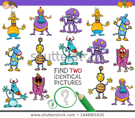 find two same monster characters task for kids Stock photo © izakowski