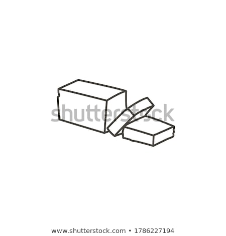 pack of creamy spread icon vector outline illustration Stock photo © pikepicture