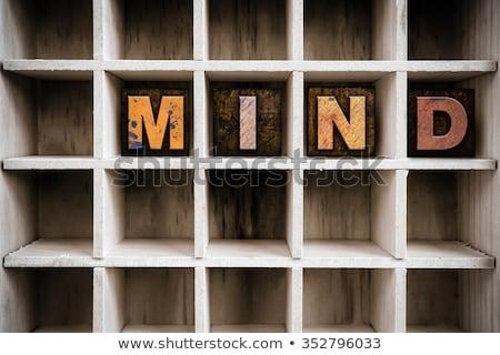 Autismo vintage tipo palavra Foto stock © enterlinedesign