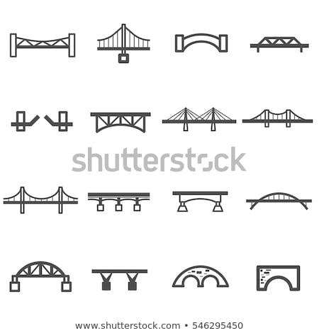 Mostów czarny sylwetka po prostu ikona Zdjęcia stock © ayaxmr