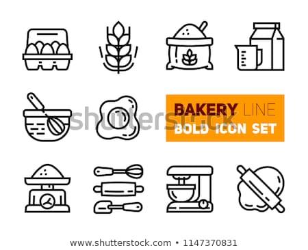 Boulangerie produits couleur vecteur icônes Photo stock © ayaxmr