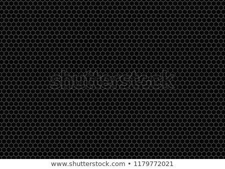 White color hexagon grid on black, a4 size background Stock photo © evgeny89