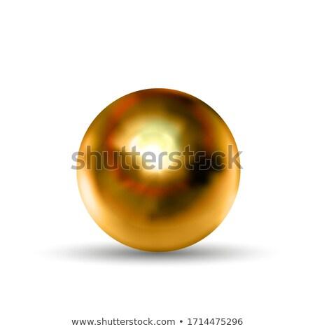 Realistyczny brąz sferze refleksji odizolowany Zdjęcia stock © evgeny89