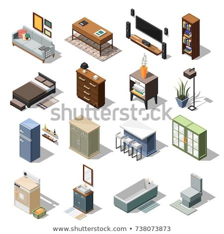 общежитие изометрический вектора знак Элементы Сток-фото © pikepicture
