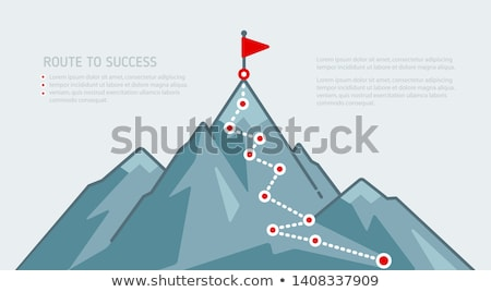 Mountain Climbing Route Creative Banner Vector Stock photo © pikepicture
