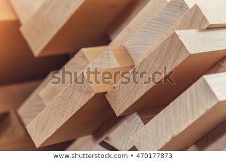 Madeira fábrica madeira Foto stock © vapi