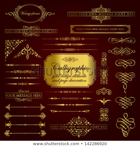 Vector set of gold ornate headpieces Stock photo © blue-pen