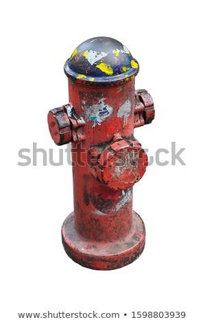 Rosso fuoco esecuzione acqua fuori Foto d'archivio © pixelsnap