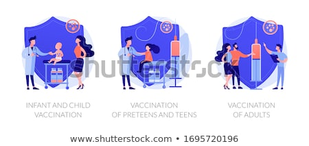 Vaccination of adults abstract concept vector illustration. Stock photo © RAStudio