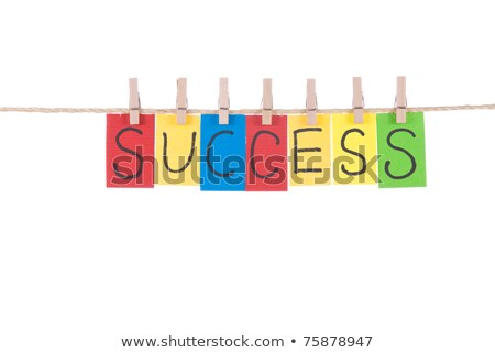 Success, words hang by wooden peg  stock photo © Ansonstock