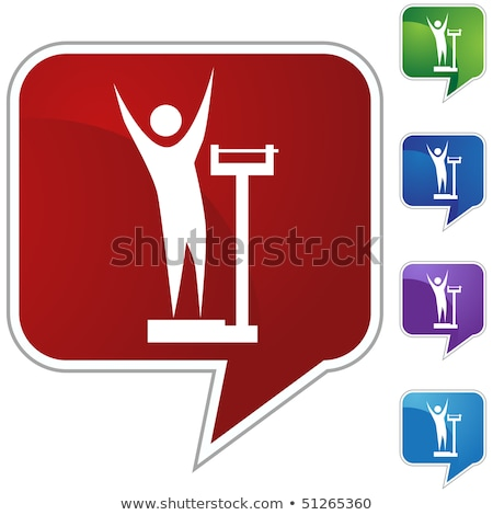 Speech bubble with the words weight loss on white background.