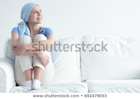 női · mellrák · izolált · fehér · nő · lány - stock fotó © nobilior