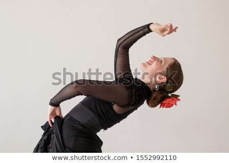 танцы фламенко назад изолированный белый Сток-фото © artjazz