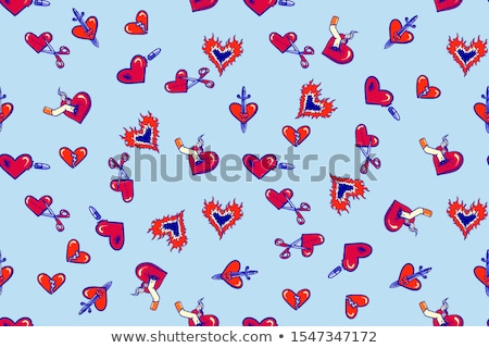 Blue Broken Heart: unrequited love Stock photo © Arsgera
