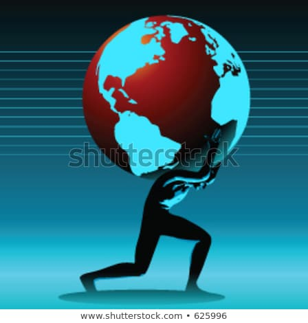Man Lifting Earth (Americas) Stock photo © eyeidea