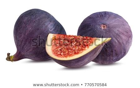 Füge gyümölcsök lekvár friss étel üveg Stock fotó © elly_l