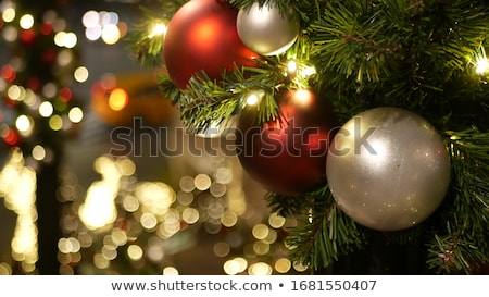 christmas tree lights out of focus background stock photo © rtimages