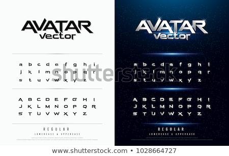 Metallic alphabet. Stock photo © Leonardi