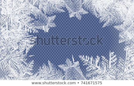 Gelo view congelato nero ferro Foto d'archivio © AGorohov