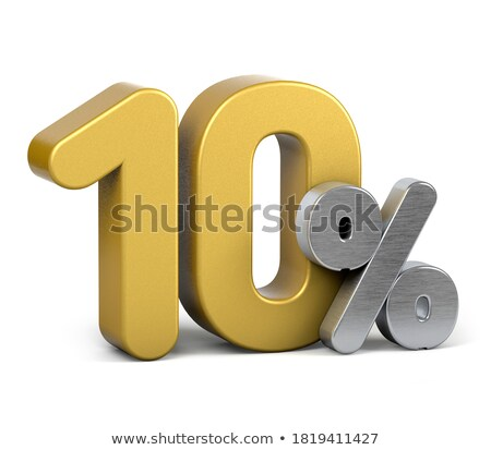 Ten percent discount shiny digits stock photo © deyangeorgiev