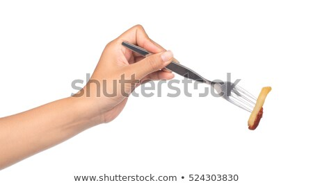 Stabbed hand with a fork Stock photo © bryndin