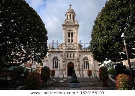 Iglesia Mónaco paisaje cruz viaje piedra Foto stock © mahout