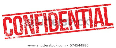 Confidential rubber stamp Stock photo © IMaster