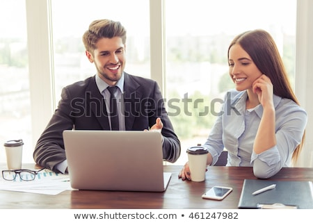 executive couple with a laptop stock photo © photography33