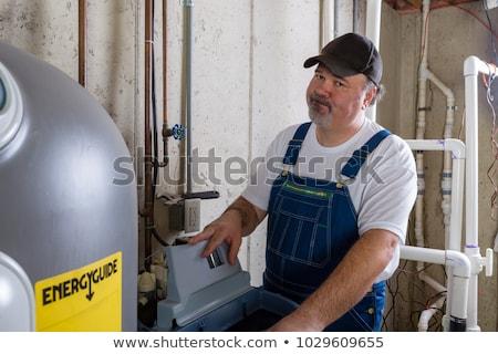 ingenieur · verwarming · pijpen · water · werken · energie - stockfoto © photography33