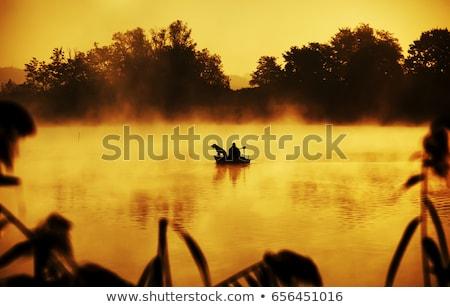 Balık tutma evcil hayvan adam köpek gün Stok fotoğraf © stevemc