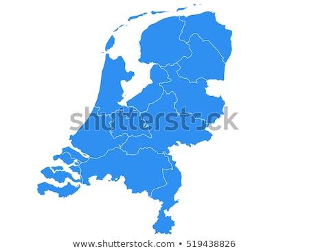 Map of Netherlands Stock photo © Schwabenblitz