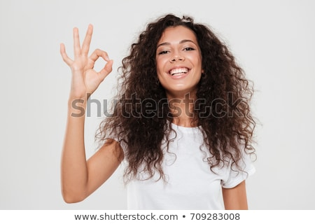 young female showing ok stock photo © grafvision