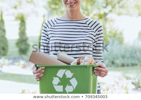 young woman waste sorting Stock photo © photography33