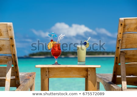 tropical beach and drinks stock photo © ajlber