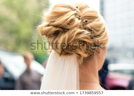 Blonde hair bride woman with evening make-up. Jewelry and Beauty Stock photo © Victoria_Andreas