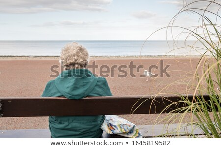 Woman sat in the sea Stock photo © photography33